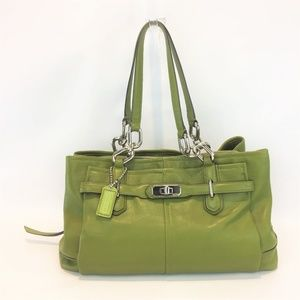 COACH Shoulder Bag 4 Compartment Green